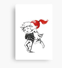 Girl and a boy Canvas Print