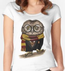 Owly Potter Women's Fitted Scoop T-Shirt