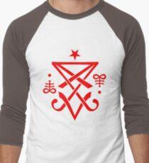 Occult Sigil of Lucifer Satanic Men's Baseball ¾ T-Shirt