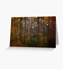 Forest Trees Nature Path - Magical Midsummer Night's Dream Greeting Card