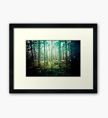 Nature Forest - Magical Green Framed Print