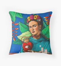 Santa Fe Frida Kahlo  Throw Pillow
