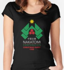 Nakatomi Corporation - Christmas Party Women's Fitted Scoop T-Shirt