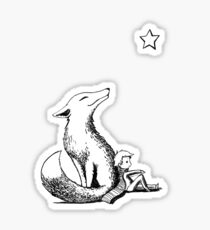 Boy and the fox Sticker
