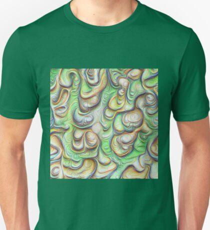 Frozen liquid green stones #DeepDream #Art T-Shirt