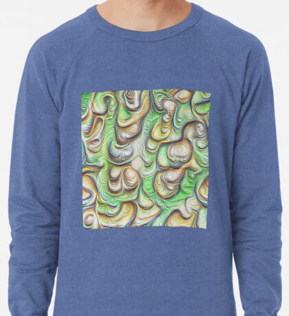 Frozen liquid green stones #DeepDream #Art Lightweight Sweatshirt