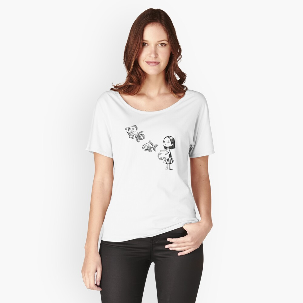 Girl and the fish Women's Relaxed Fit T-Shirt Front
