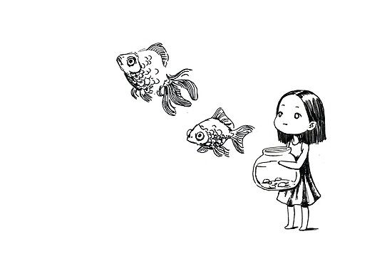 Girl and the fish by freeminds