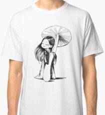 Girl under the mushroom Classic T-Shirt