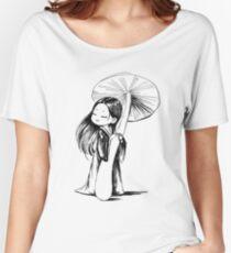 Girl under the mushroom Women's Relaxed Fit T-Shirt