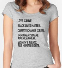 Love is Love and Black Lives Matter Women's Fitted Scoop T-Shirt
