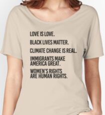 Love is Love and Black Lives Matter Women's Relaxed Fit T-Shirt