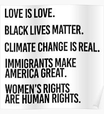 Love is Love and Black Lives Matter Poster