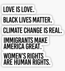 Love is Love and Black Lives Matter Sticker