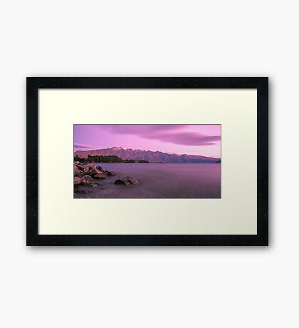 Queenstown Sunset Framed Print