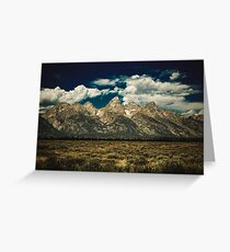 Mountains and Forest - The Grand Tetons National Park Jackson Hole Wyoming Greeting Card