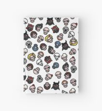 The Binding of Isaac characters pattern Hardcover Journal