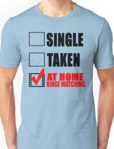 Binge watching Design Unisex T-Shirt