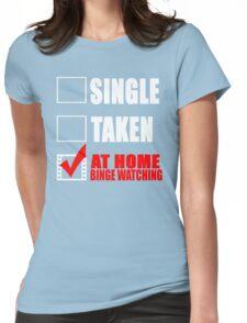 Binge watching Womens Fitted T-Shirt