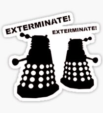 Dalek - Doctor Who - Exterminate! Sticker
