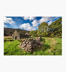 Welsh Cottage Ruin Photographic Print