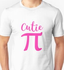 Cutie Pie Pi March 14 Day Cute Pink 3.14 Symbol  Unisex T-Shirt