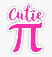Cutie Pie Pi March 14 Day Cute Pink 3.14 Symbol  Sticker