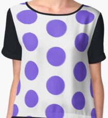 Large polka dot pattern, purple discs, circles Women's Chiffon Top
