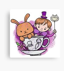 Mad hatter teacup party Canvas Print