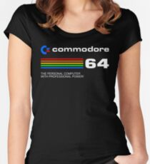 Camiseta entallada de cuello redondo Commodore 64 - personal computer