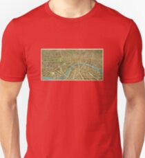 1908 London Vintage Map Poster Unisex T-Shirt