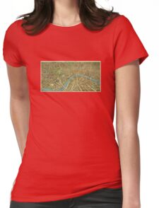 1908 London Vintage Map Poster Womens Fitted T-Shirt
