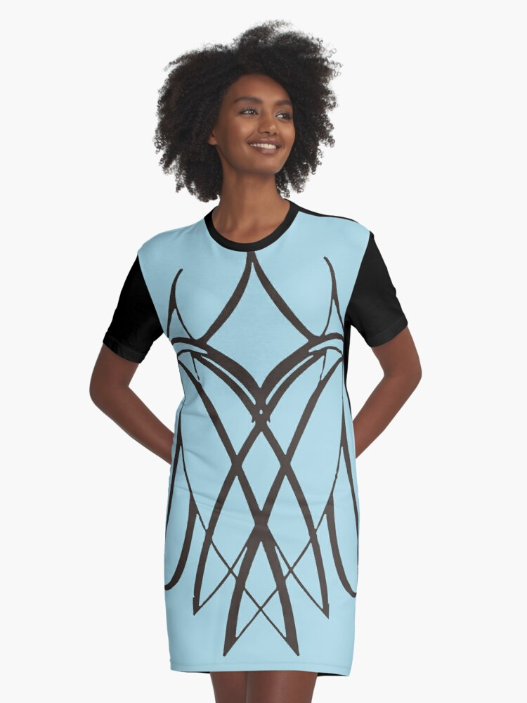 Lesbian Lovers Together Vector on Pale Jade Graphic T-Shirt Dress Front