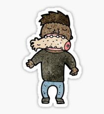 cartoon cannibal man Sticker