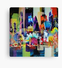 City of London Skyline abstract painting 949 Canvas Print
