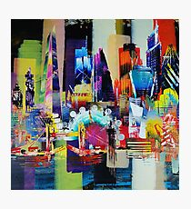 City of London Skyline abstract painting 949 Photographic Print