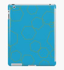 Abstract - Gold Patterns on Blue iPad Case/Skin