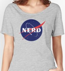 NASA Nerd Logo Parody Women's Relaxed Fit T-Shirt