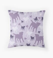 Borders in Silhouette - Shades of Lilac Throw Pillow