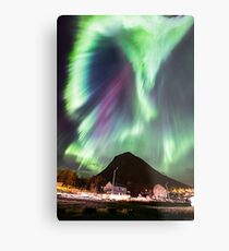Northern Lights in the city Metal Print