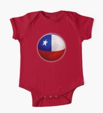 Chile - Chilean Flag - Football or Soccer 2 One Piece - Short Sleeve
