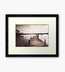 A Sepia Bridge Walk Framed Print