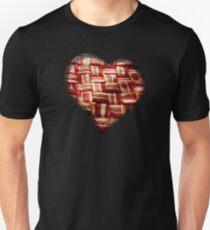 Bacon - Heart - Woven Strips T-Shirt