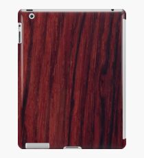 Deep red wood veneer design iPad Case/Skin