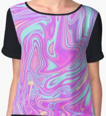 Liquid Rainbow Chiffon Top