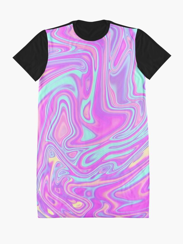 Alternate view of Liquid Rainbow Graphic T-Shirt Dress