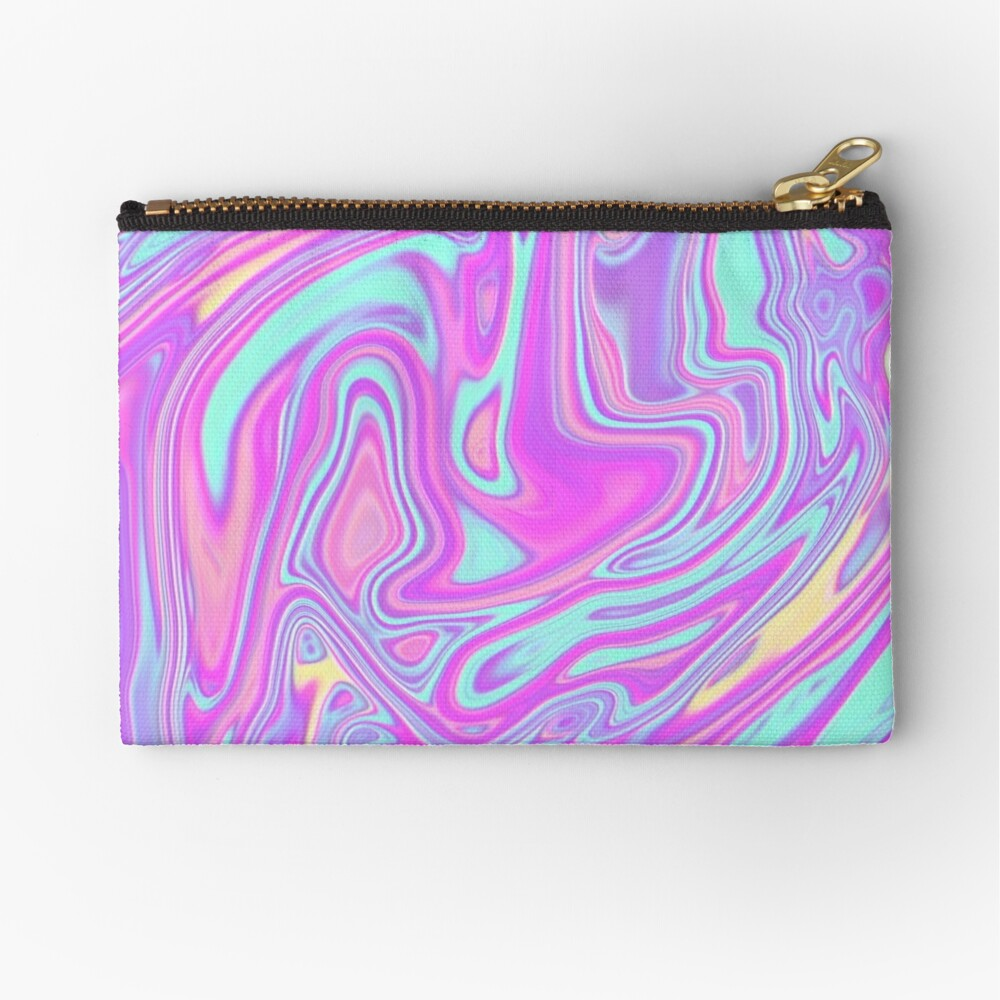Liquid Rainbow Zipper Pouch