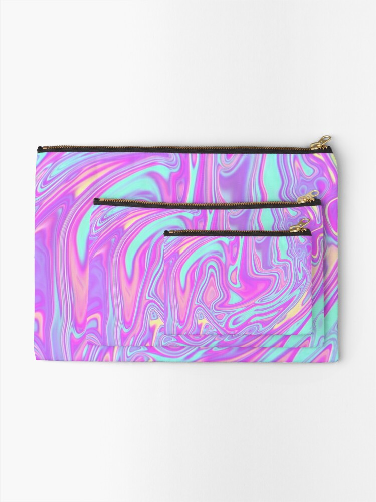 Alternate view of Liquid Rainbow Zipper Pouch
