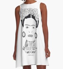 Frida Kahlo - we can endure A-Line Dress