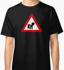 Pony Traffic Sign - Triangular Classic T-Shirt